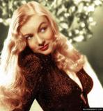 beautiful vintage actress Veronica Lake colour pics