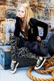 Avril Lavigne posing for Abbey Dawn Clothing Line Shoot - Hot Celebs Home