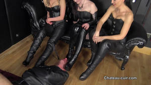 Chateau-Cuir: Triple leather worship part 2