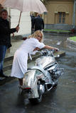 """Pamela Anderson @ Music Video Shoot for """"Piligrim"""" in Moscow, Russia, September 12, 2008 - 10HQ"""