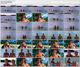 *1 hot ADD* Marika Dominczyk & Krista Kalmus - bikini babes on North Shore  - 1 clip