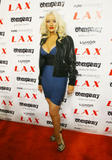 Christina Aguilera shows great cleavage at Party at LAX Nightclub at Luxor Resort and Casino in Las Vegas